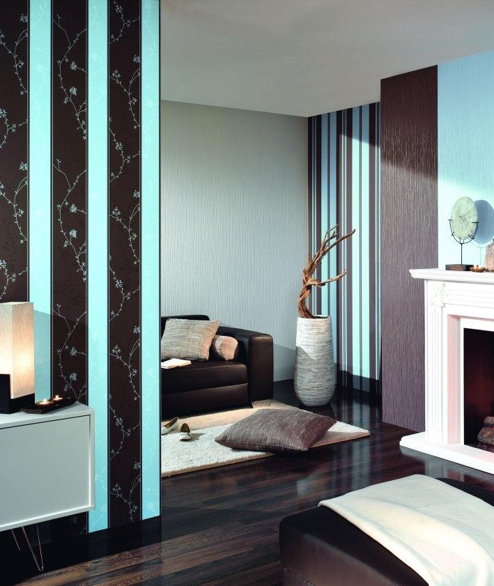Gestreifte Tapeten Schlafzimmer : Tapeten Schlafzimmer Braun: Design Tapete Arte International onlinw