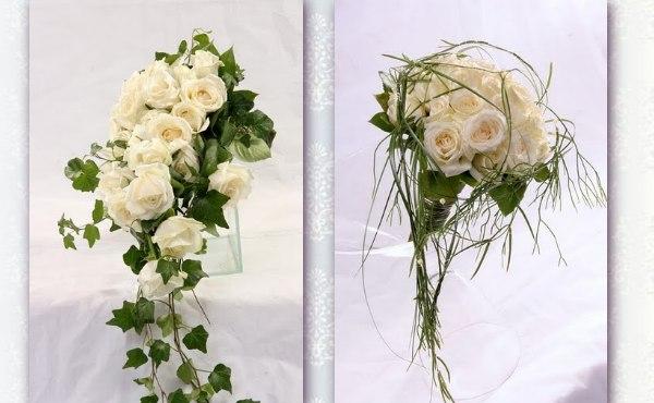 pin brautstrau mit wei en rosen und kleinen wei en bl ten kunstblumen on pinterest. Black Bedroom Furniture Sets. Home Design Ideas