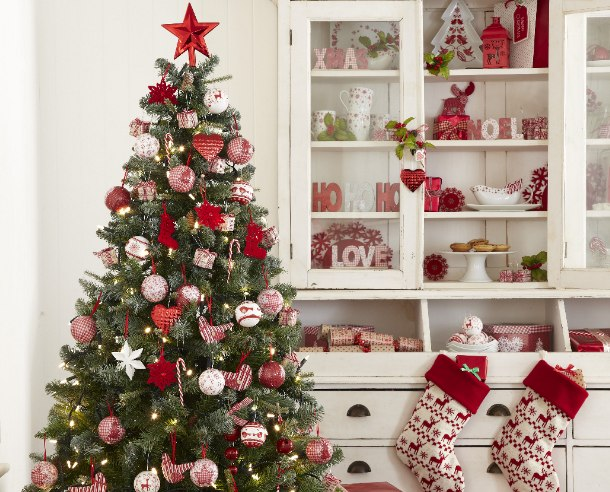 weihnachtsbaum rot wei my blog. Black Bedroom Furniture Sets. Home Design Ideas